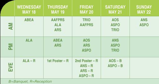 COSM 2016 Program Schedule